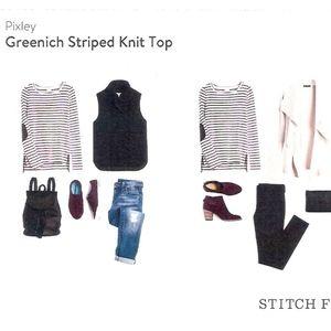 Stitch Fix Pixley Greenich Striped Knit Top sz XL